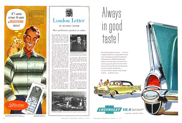 Article Preview: London Letter, March 1957 | Maclean's