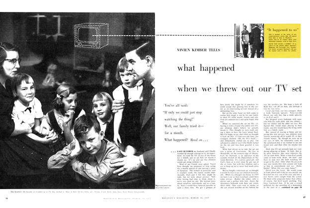 Article Preview: what happened when we threw out our TV set, March 1957 | Maclean's