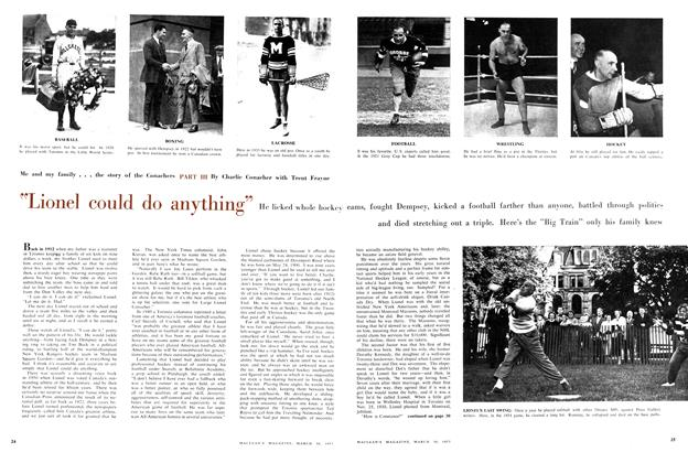 """Article Preview: """"Lionel could do anything"""", March 1957 