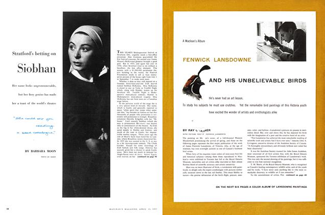 Article Preview: FENWICK LANSDOWNE AND HIS UNBELIEVABLE BIRDS, April 1957 | Maclean's