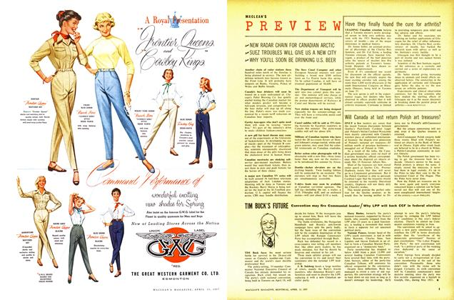 Article Preview: PREVIEW, April 1957 | Maclean's