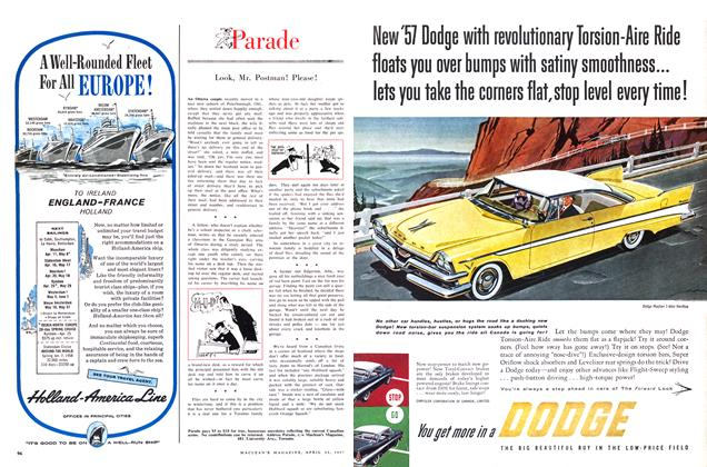 Article Preview: Parade, April 1957 | Maclean's
