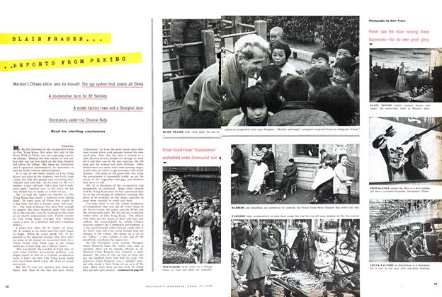 Article Preview: BLAIR FRASER... REPORTS FROM PEKING, April 1957 | Maclean's