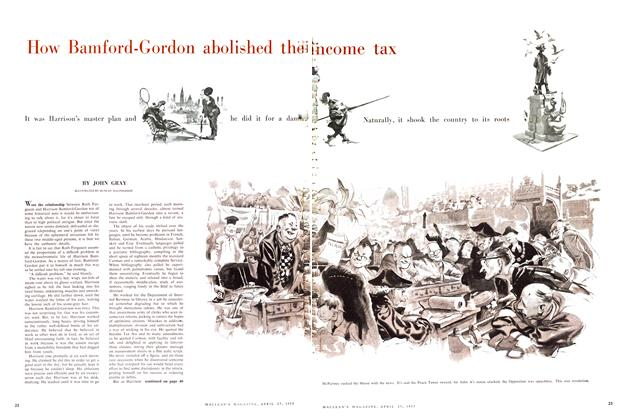 Article Preview: How Bamford-Gordon abolished the income tax, April 1957 | Maclean's