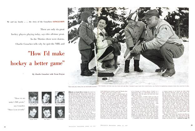 "Article Preview: ""How I'd make hockey a better game"", April 1957 