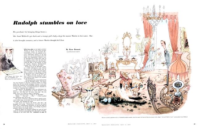 Article Preview: Rudolph stumbles on love, May 1957 | Maclean's
