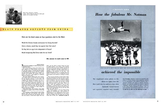Article Preview: BLAIR FRASER REPORTS FROM CHINA, May 1957 | Maclean's