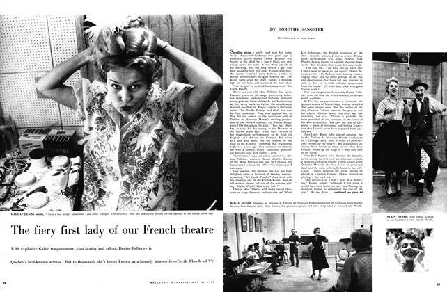 Article Preview: The fiery first lady of our French theatre, May 1957 | Maclean's