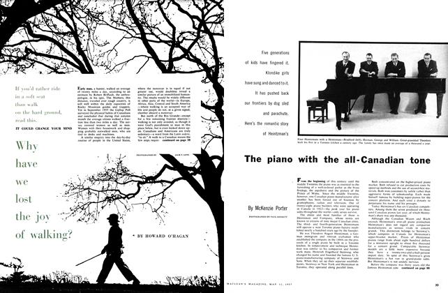 Article Preview: Why have we lost the joy of walking?, May 1957 | Maclean's