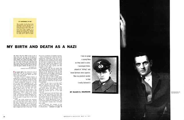 Article Preview: MY BIRTH AND DEATH AS A NAZI, May 1957 | Maclean's