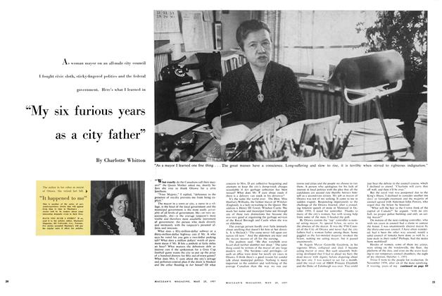 "Article Preview: ""My six furious years as a city father"", May 1957 