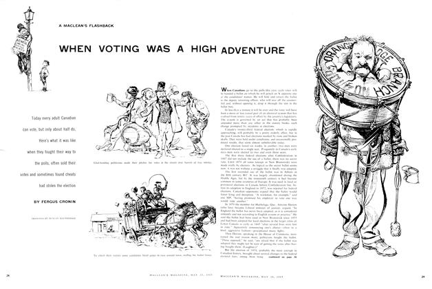 Article Preview: WHEN VOTING WAS A HIGH ADVENTURE, May 1957 | Maclean's