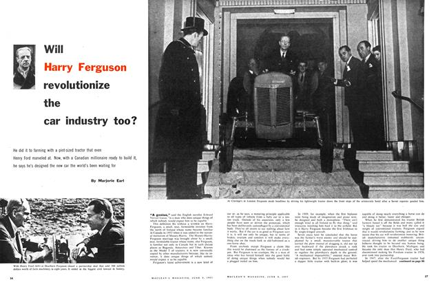 Article Preview: Will Harry Ferguson revolutionize the car industry too?, June 1957 | Maclean's