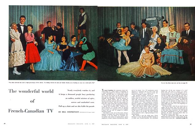 Article Preview: The wonderful world of French-Canadian TV, June 1957 | Maclean's