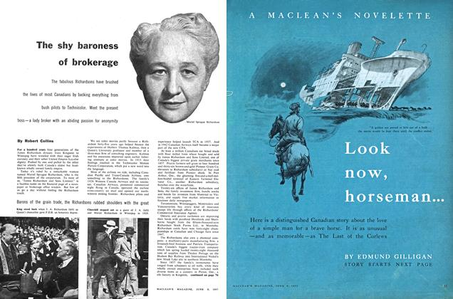 Article Preview: Look now, horseman..., June 1957 | Maclean's