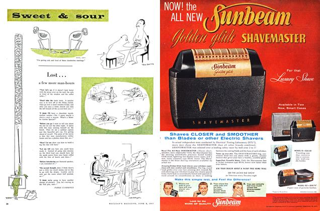 Article Preview: Sweet & sour, June 1957 | Maclean's