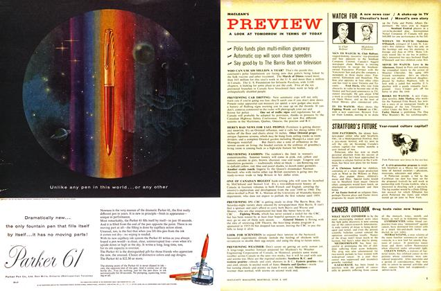 Article Preview: CANCER OUTLOOK, June 1957 | Maclean's