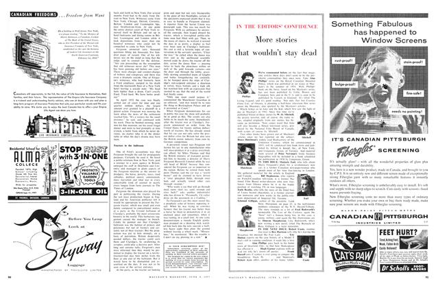 Article Preview: More stories that wouldn't stay dead, June 1957 | Maclean's