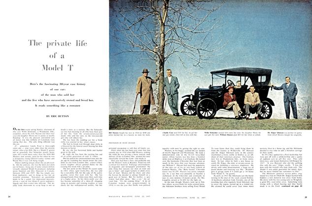 Article Preview: The private life of a Model T, June 1957 | Maclean's