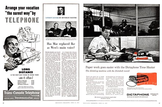 Article Preview: Has Mac replaced Ike as West's main voice?, June 1957 | Maclean's