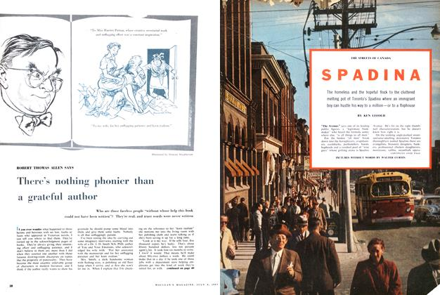 Article Preview: THE STREETS OF CANADA SPADINA, July 1957 | Maclean's
