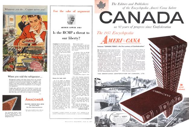 Article Preview: Is the RCMP a threat to our liberty?, July 1957 | Maclean's
