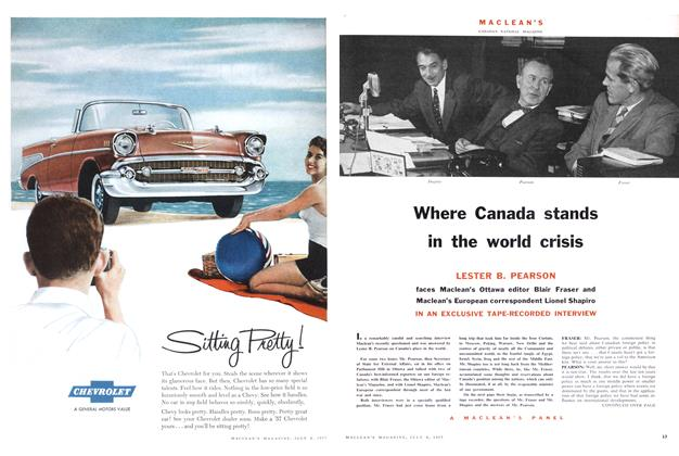 Article Preview: Where Canada stands in the world crisis, July 1957 | Maclean's