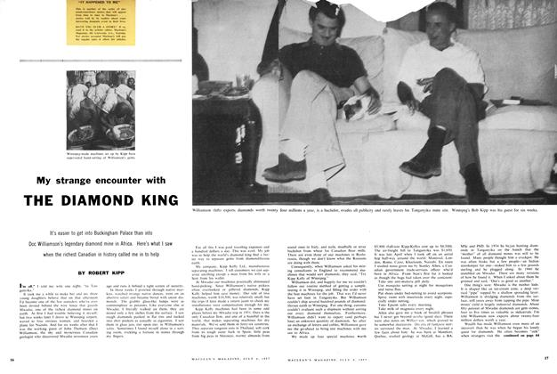Article Preview: My strange encounter with THE DIAMOND KING, July 1957 | Maclean's