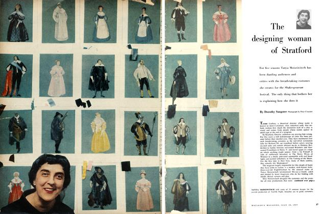 Article Preview: The designing woman of Stratford, July 1957 | Maclean's