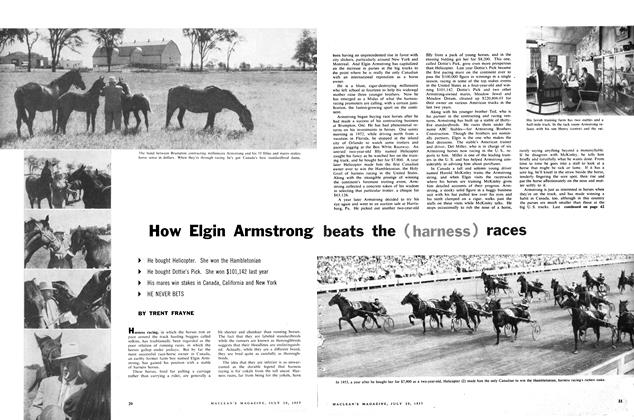Article Preview: How Elgin Armstrong beats the (harness) races, July 1957 | Maclean's