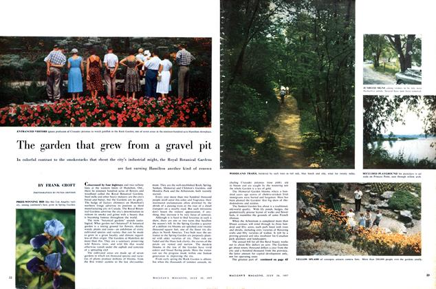 Article Preview: The garden that grew from a gravel pit, July 1957 | Maclean's