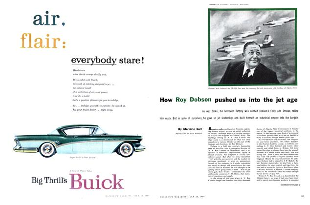 Article Preview: How Roy Dobson pushed us into the jet age, July 1957 | Maclean's