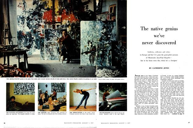 Article Preview: The native genius we've never discovered, August 1957   Maclean's