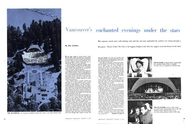 Article Preview: Vancouver's enchanted evenings under the stars, August 1957 | Maclean's
