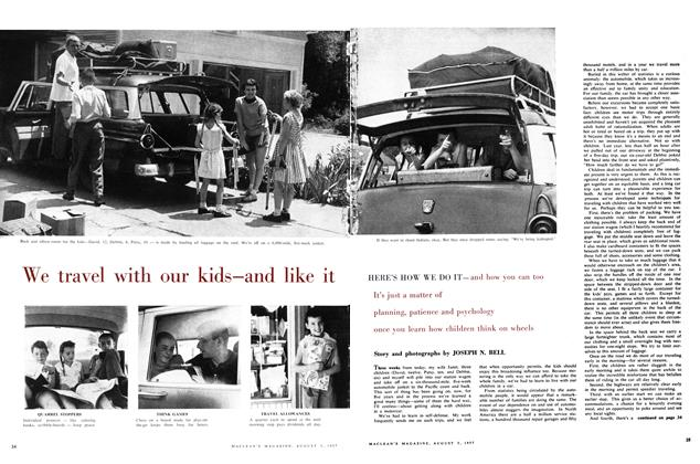 Article Preview: We travel with our kids—and like it, August 1957 | Maclean's