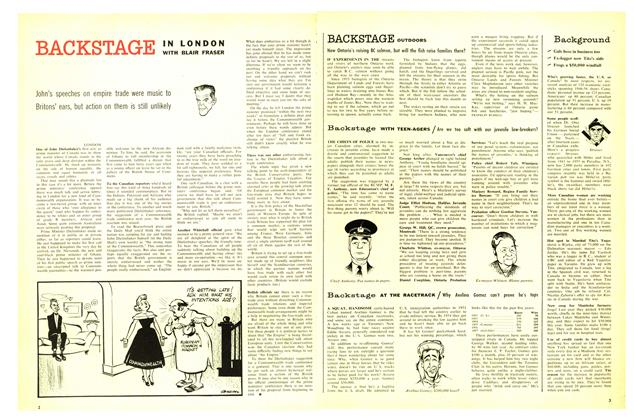 Article Preview: BACKSTAGE OUTDOORS, August 1957 | Maclean's