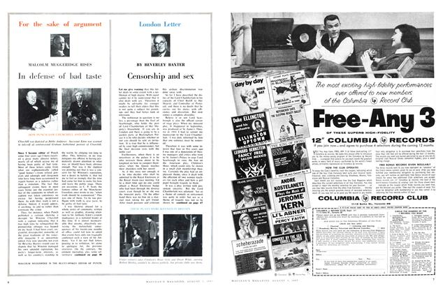 Article Preview: Censorship and sex, August 1957 | Maclean's