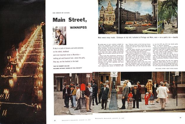 Article Preview: Main Street, WINNIPEG, August 1957 | Maclean's