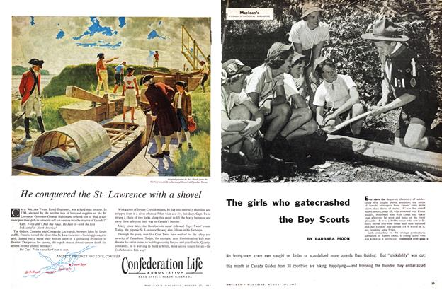 Article Preview: The girls who gatecrashed the Boy Scouts, August 1957 | Maclean's