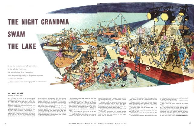 Article Preview: THE NIGHT GRANDMA SWAM THE LAKE, August 1957 | Maclean's