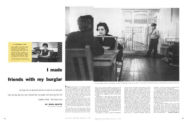 Article Preview: I made friends with my burglar, August 1957 | Maclean's