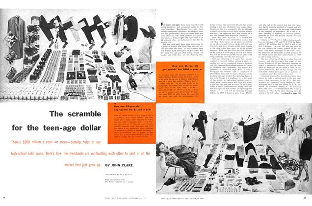Article Preview: The scramble for the teenage dollar, September 1957 | Maclean's