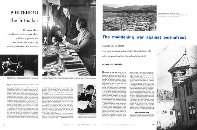 Article Preview: WHITEHEAD the hitmaker, September 1957 | Maclean's