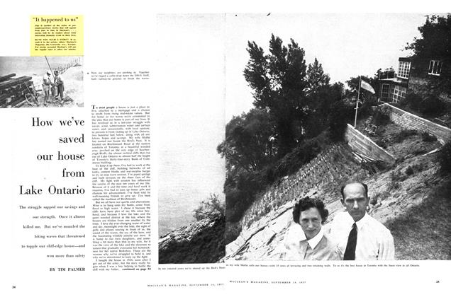 Article Preview: How we've saved our house from Lake Ontario, September 1957 | Maclean's