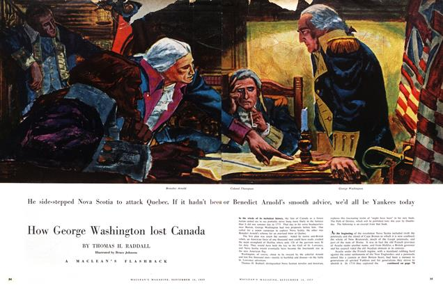 Article Preview: How George Washington lost Canada, September 1957 | Maclean's