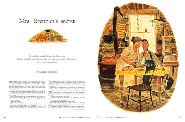 Article Preview: Mrs. Brennan's secret, September 1957 | Maclean's