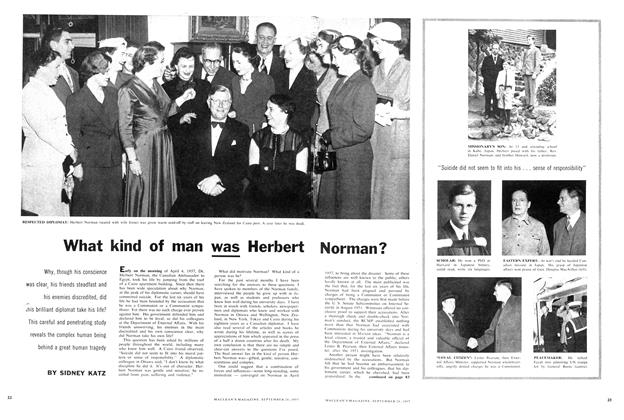 Article Preview: What kind of man was Herbert Norman?, September 1957 | Maclean's