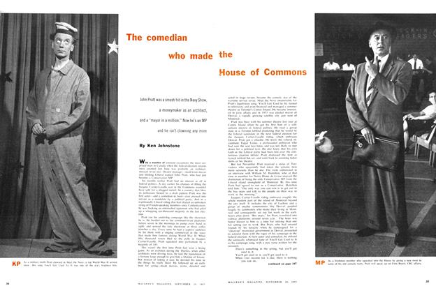 Article Preview: The comedian the who made House of Commons, September 1957 | Maclean's