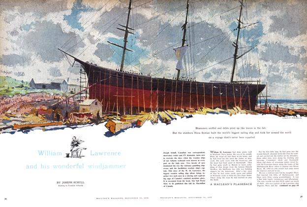 Article Preview: William Lawrence and his wonderful windjammer, September 1957 | Maclean's