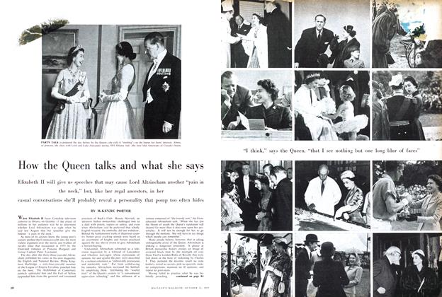 Article Preview: How the Queen talks and what she says, October 1957 | Maclean's
